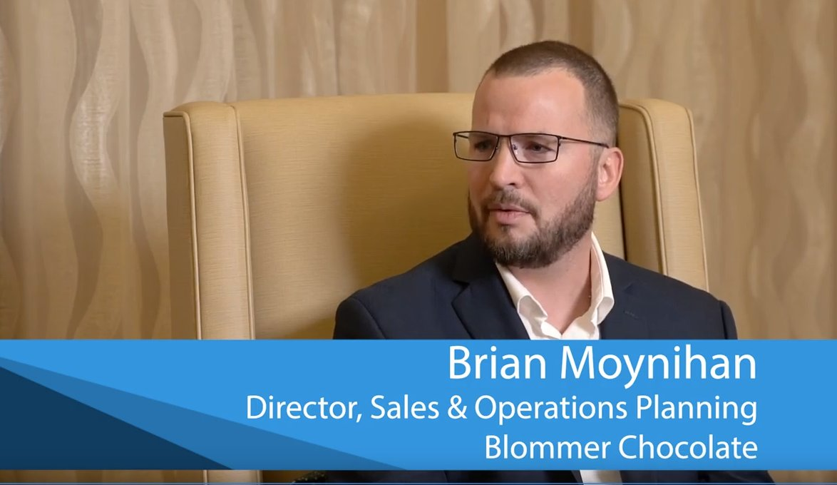 How Blommer increased forecast accuracy, decreased re-work and waste.