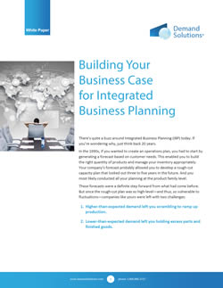 IBP - Integrated Business Planning Business Case